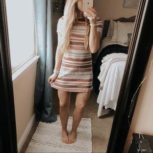 Bershka Girl Striped 70s Mini Dress